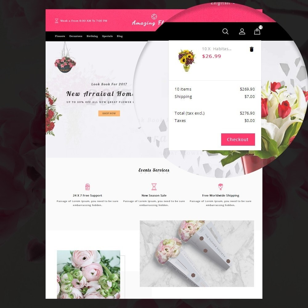 theme - Gifts, Flowers & Celebrations - Amazing Flower - 8