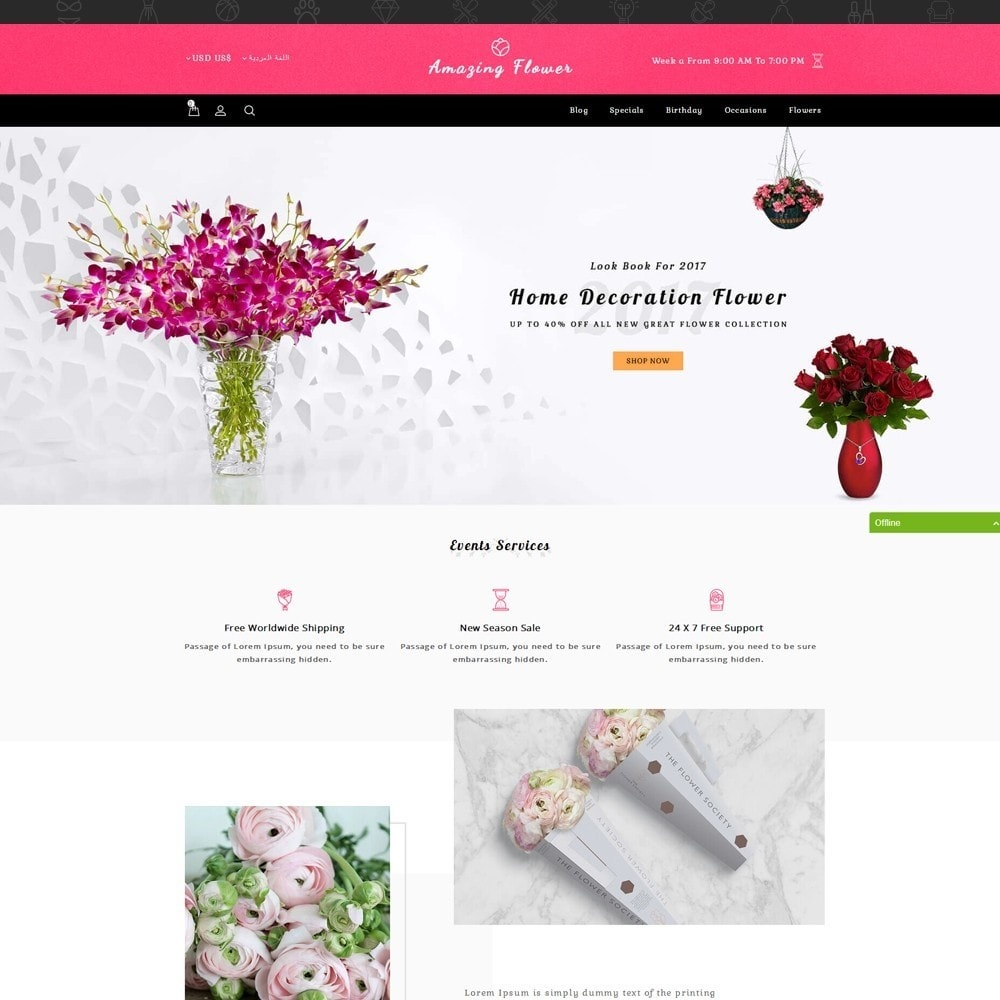 theme - Gifts, Flowers & Celebrations - Amazing Flower - 9