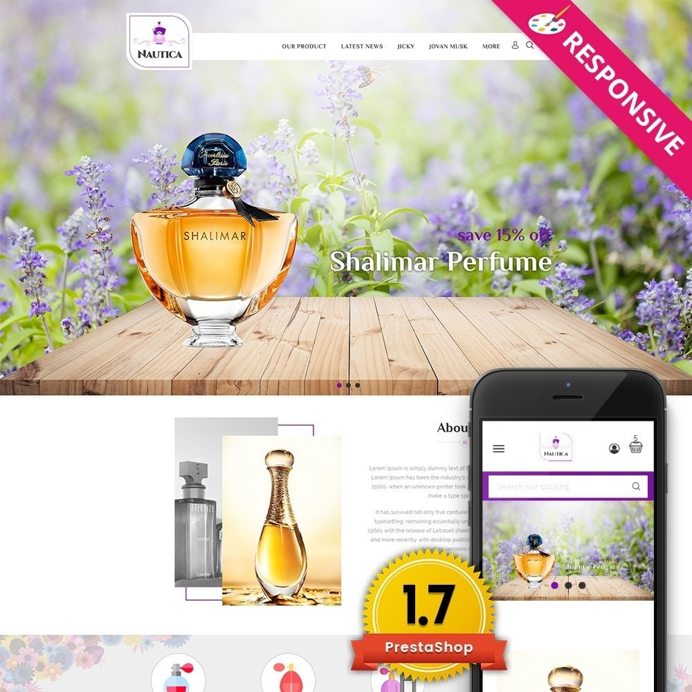 theme - Salud y Belleza - Nautica Perfume Store - 1