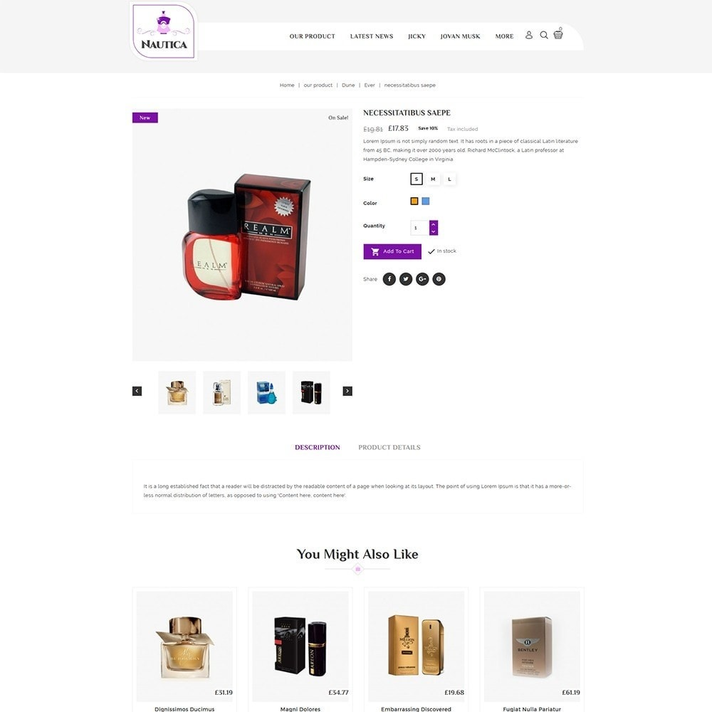 theme - Salud y Belleza - Nautica Perfume Store - 6