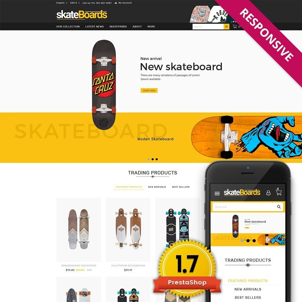 theme - Sports, Activities & Travel - Skateboard Sport Store - 1