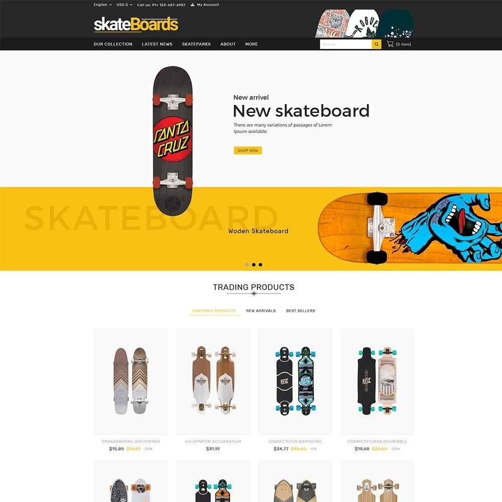 theme - Sports, Activities & Travel - Skateboard Sport Store - 2