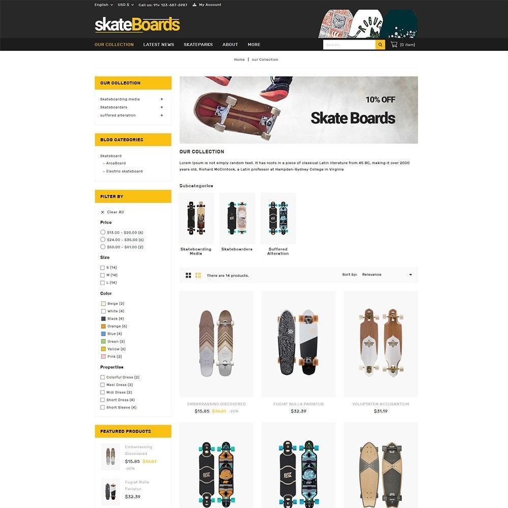 theme - Sport, Rozrywka & Podróże - Skateboard Sport Store - 4