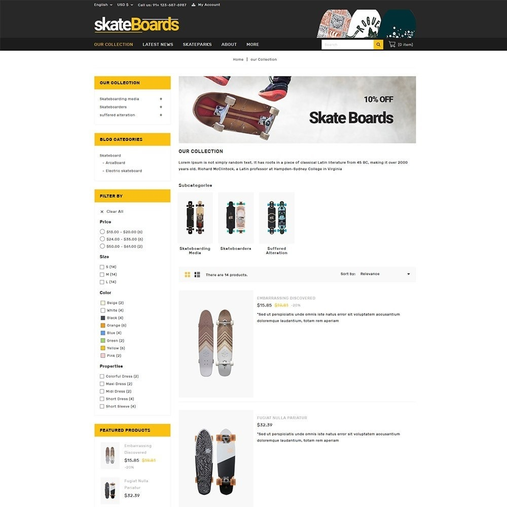 theme - Sport, Rozrywka & Podróże - Skateboard Sport Store - 5