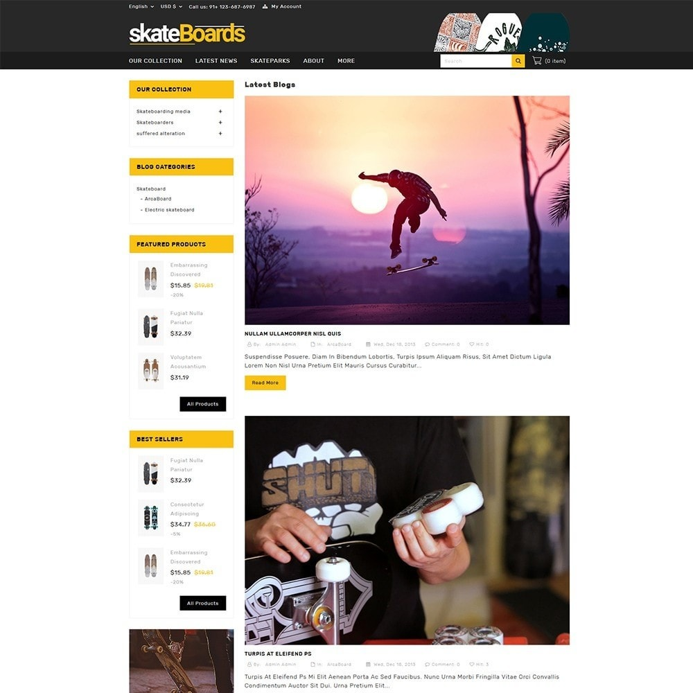 theme - Sports, Activities & Travel - Skateboard Sport Store - 7