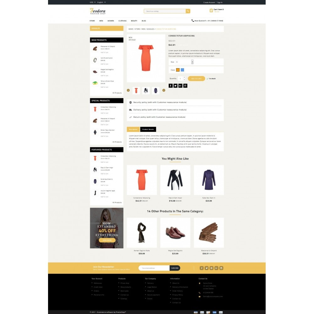 theme - Moda y Calzado - Feodora Fashion - 6