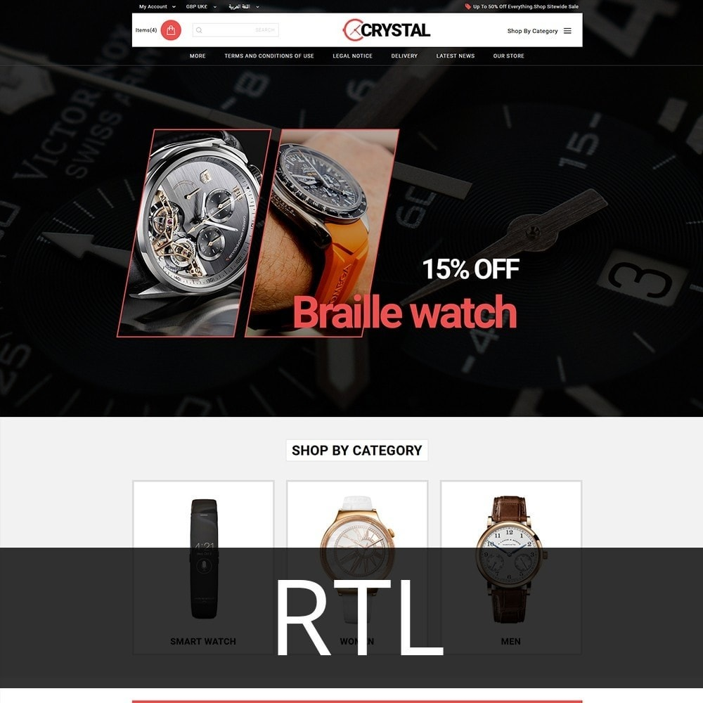theme - Elettronica & High Tech - Crystal Watch Store - 3