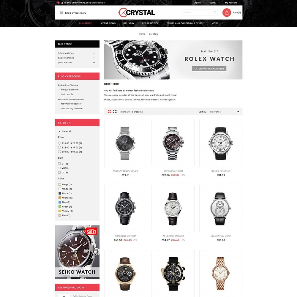 theme - Elettronica & High Tech - Crystal Watch Store - 4