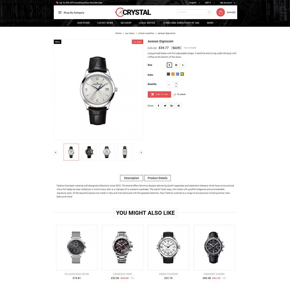 theme - Elettronica & High Tech - Crystal Watch Store - 6