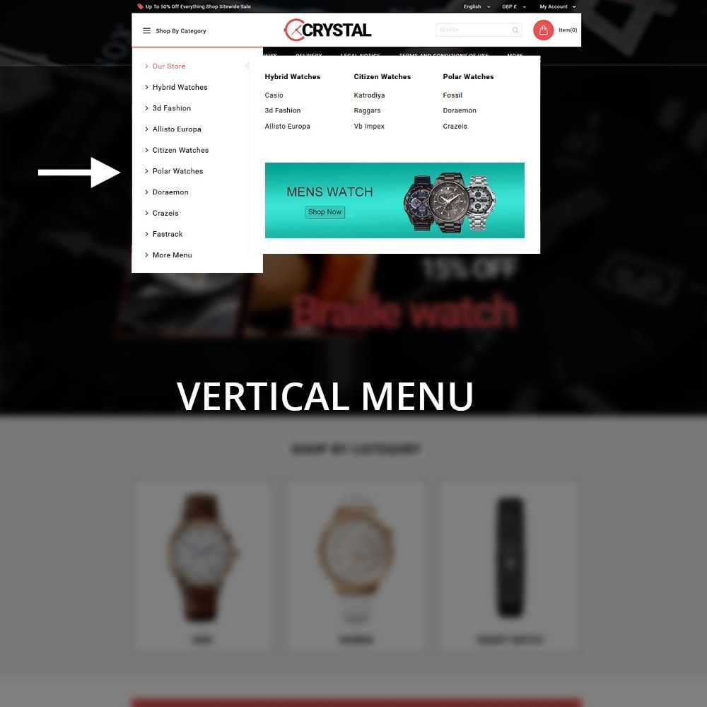 theme - Elettronica & High Tech - Crystal Watch Store - 9