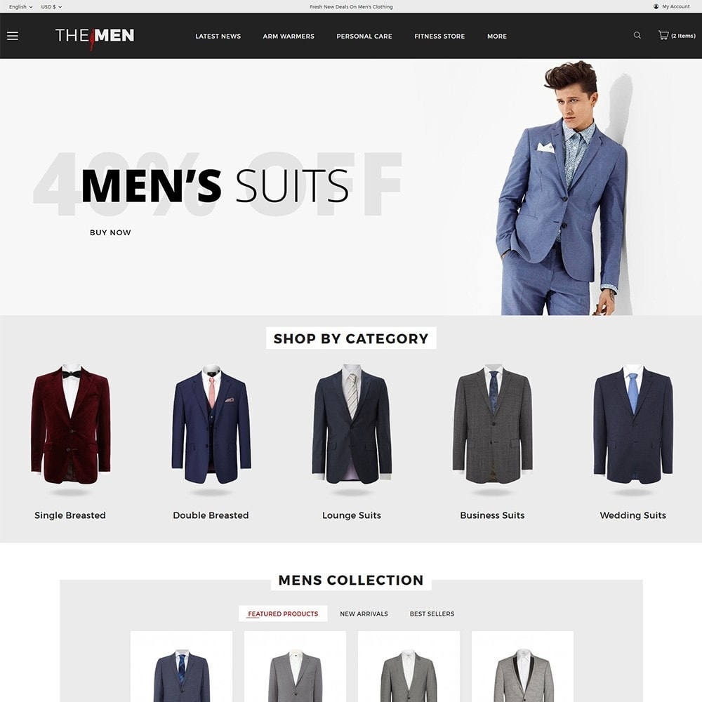theme - Mode & Chaussures - TheMan Fashion Store - 2