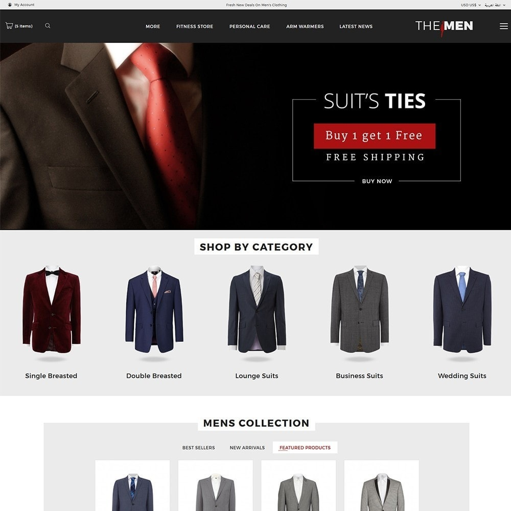 theme - Mode & Chaussures - TheMan Fashion Store - 3