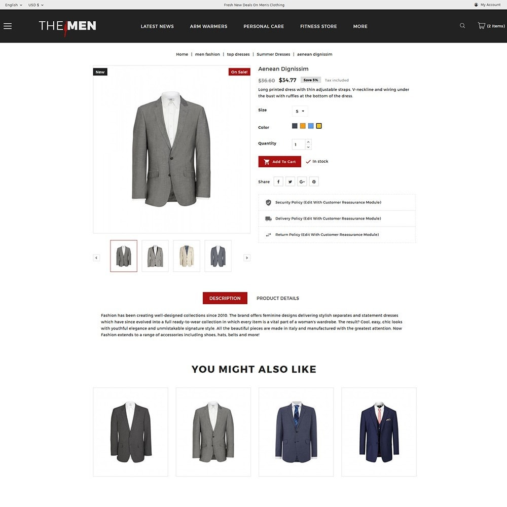 theme - Mode & Chaussures - TheMan Fashion Store - 6