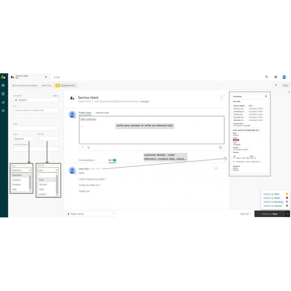 module - Service Client - Official Zendesk - 2