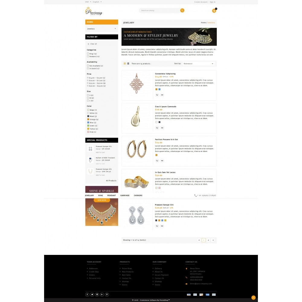 theme - Jewelry & Accessories - Preciousy Jewelry Store - 4