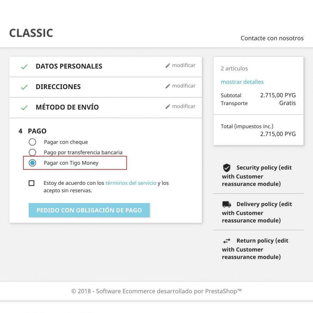 module - Pagamento con Carta di Credito o Wallet - Tigo Money Paraguay - 3