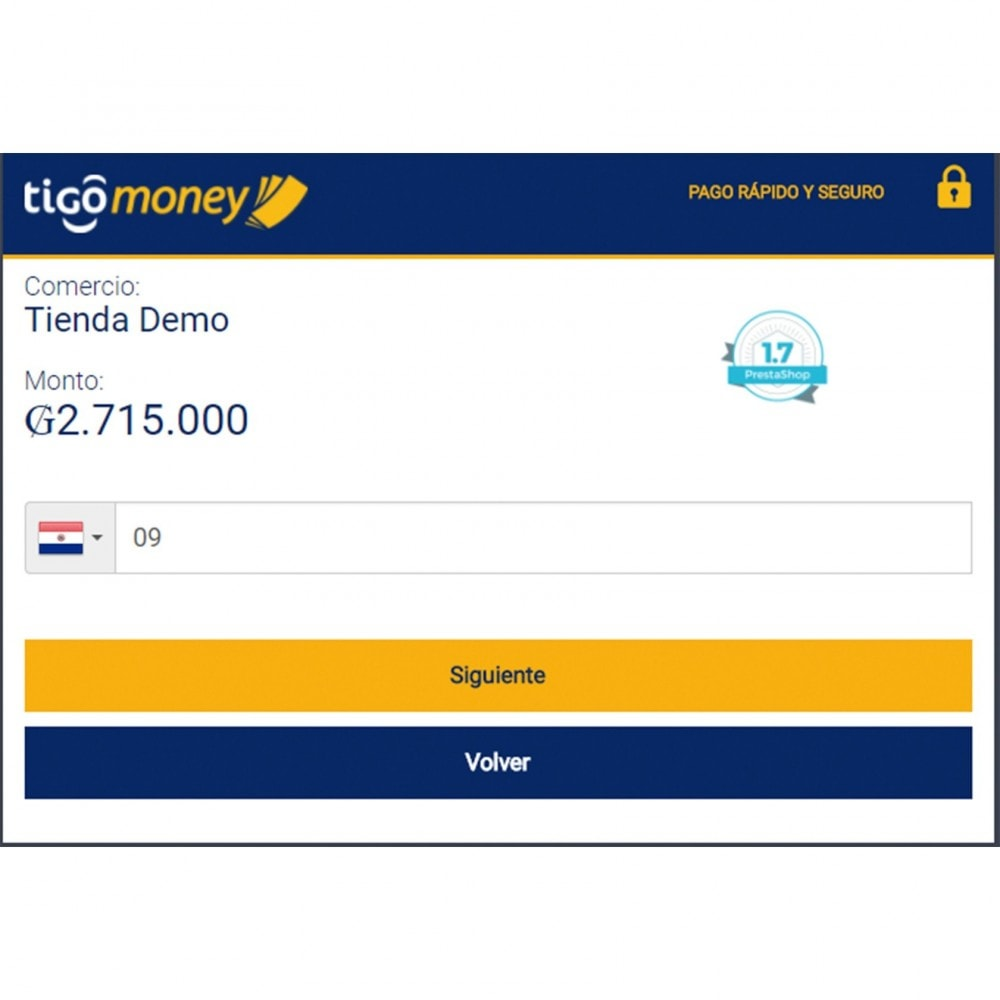 module - Pago con Tarjeta o Carteras digitales - Tigo Money Paraguay - 4