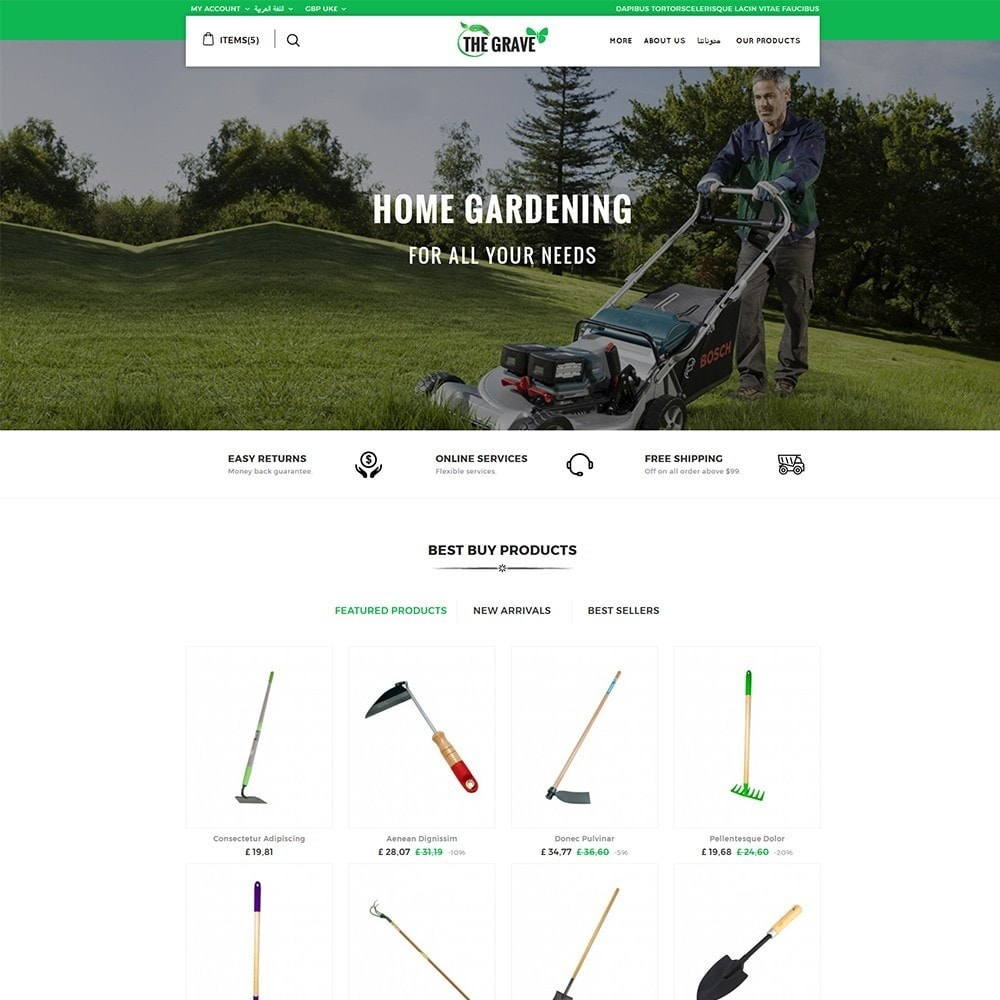 theme - Dom & Ogród - The Grave Gardening Tools - 3