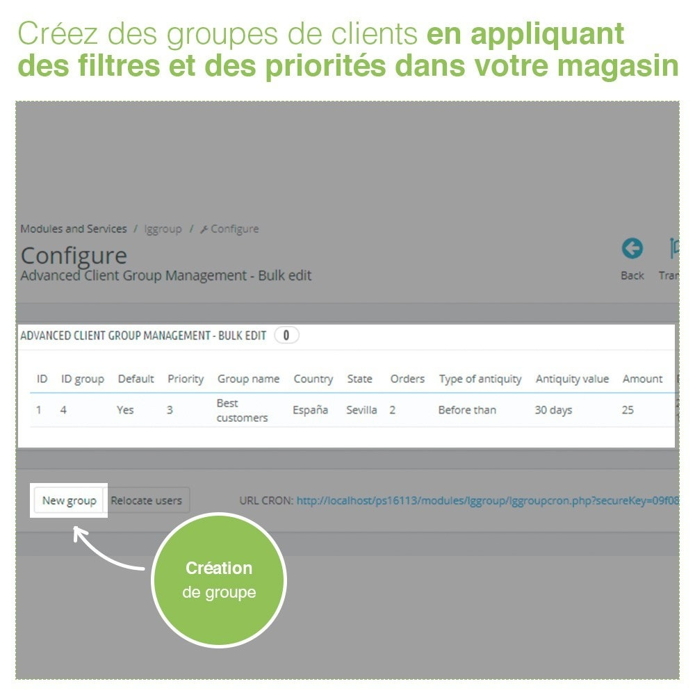 module - Gestion des clients - Gestion Avancée et Massive des groupes de clients - 2