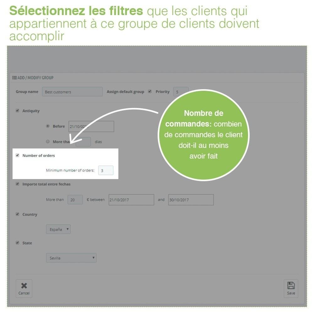 module - Gestion des clients - Gestion Avancée et Massive des groupes de clients - 4