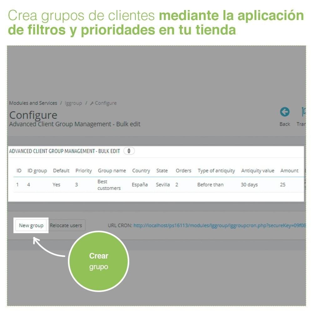 module - Gestión de clientes - Gestión Avanzada de Grupo de Clientes – Edición Masiva - 2