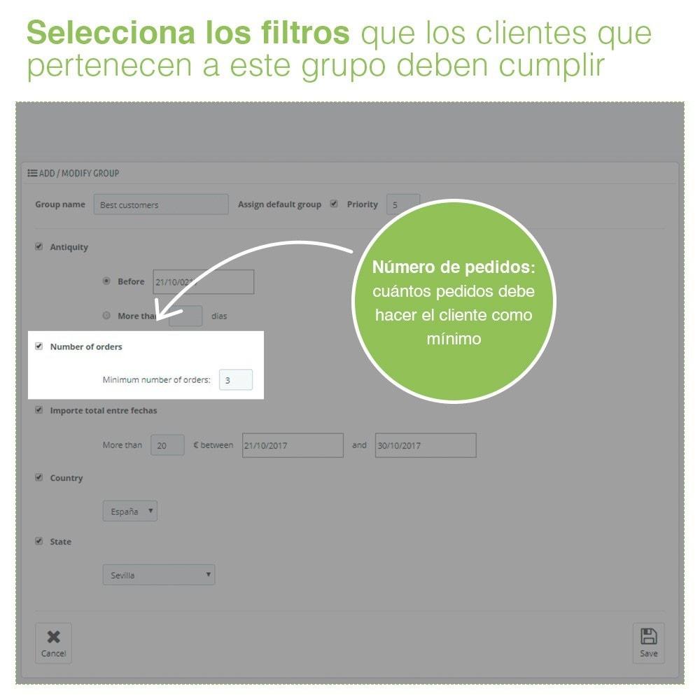 module - Gestión de clientes - Gestión Avanzada de Grupo de Clientes – Edición Masiva - 3