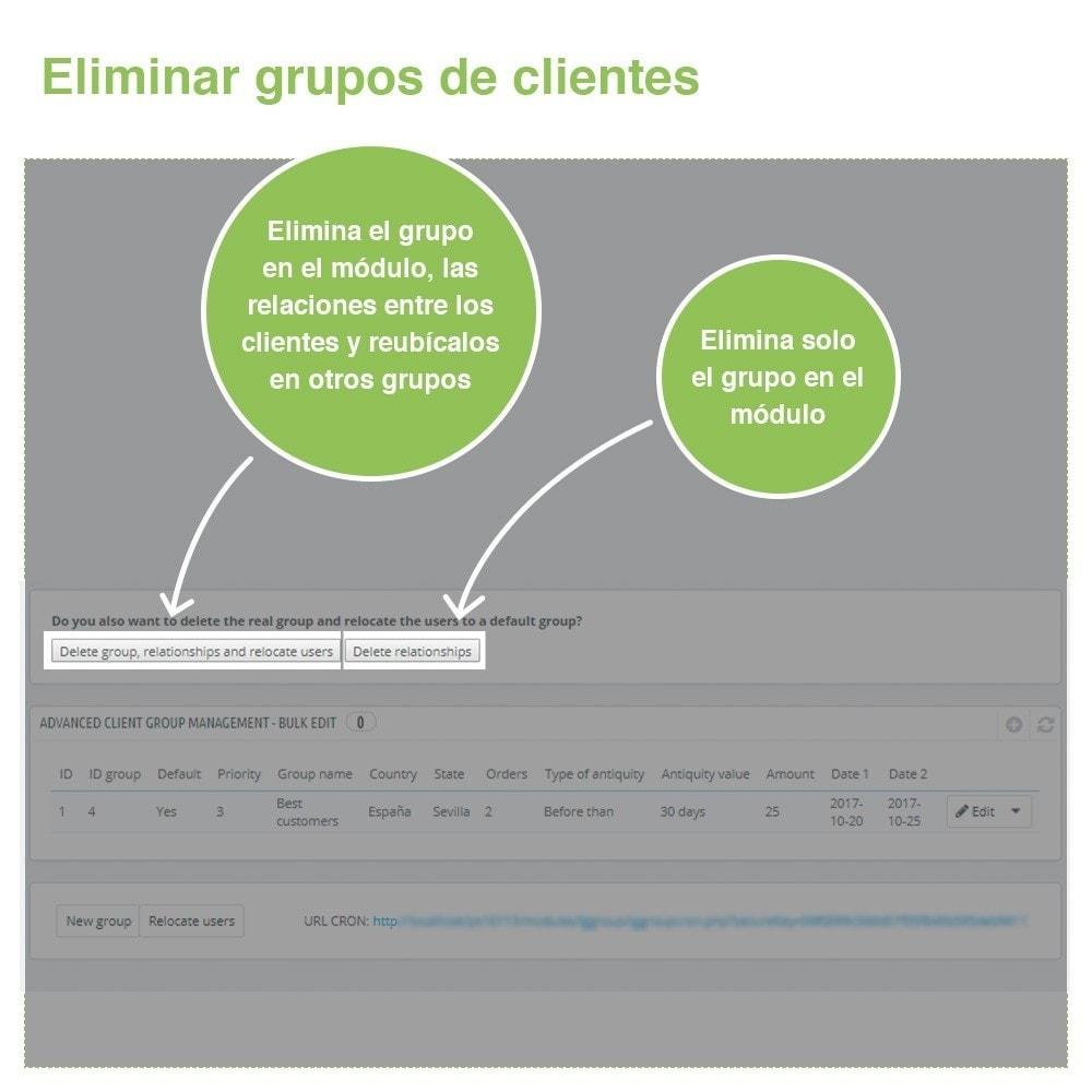 module - Gestión de clientes - Gestión Avanzada de Grupo de Clientes – Edición Masiva - 8