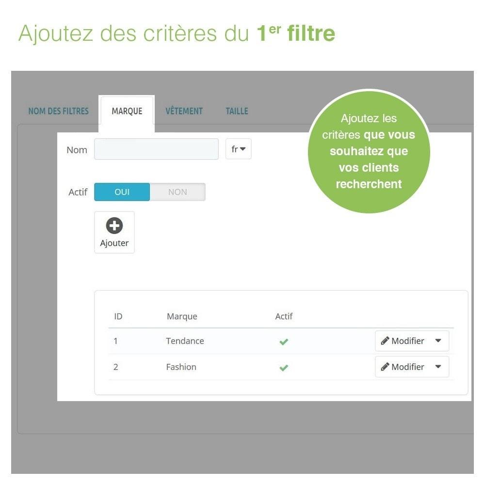 module - Recherche & Filtres - Barre de Recherche Avancée de Produits à 3 Filtres - 5