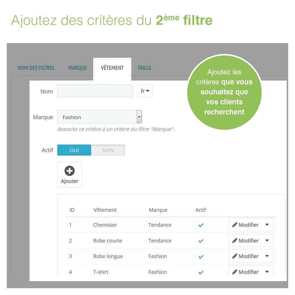 module - Recherche & Filtres - Barre de Recherche Avancée de Produits à 3 Filtres - 6