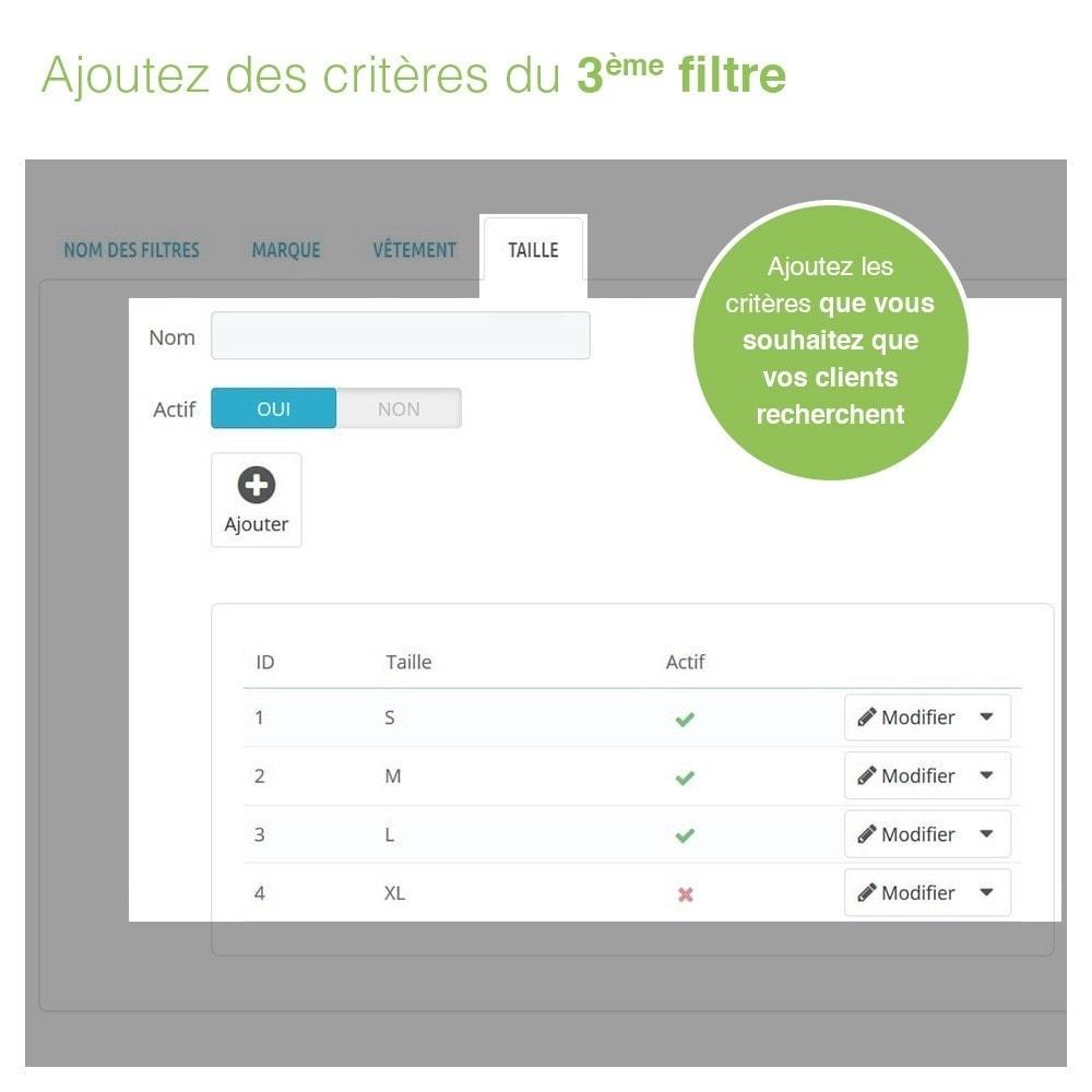module - Recherche & Filtres - Barre de Recherche Avancée de Produits à 3 Filtres - 7
