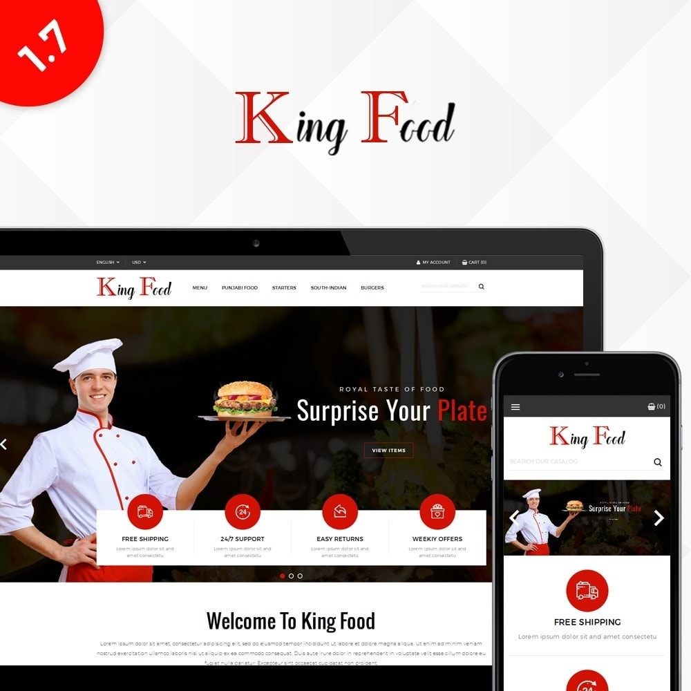 theme - Alimentation & Restauration - King Food Store - 1