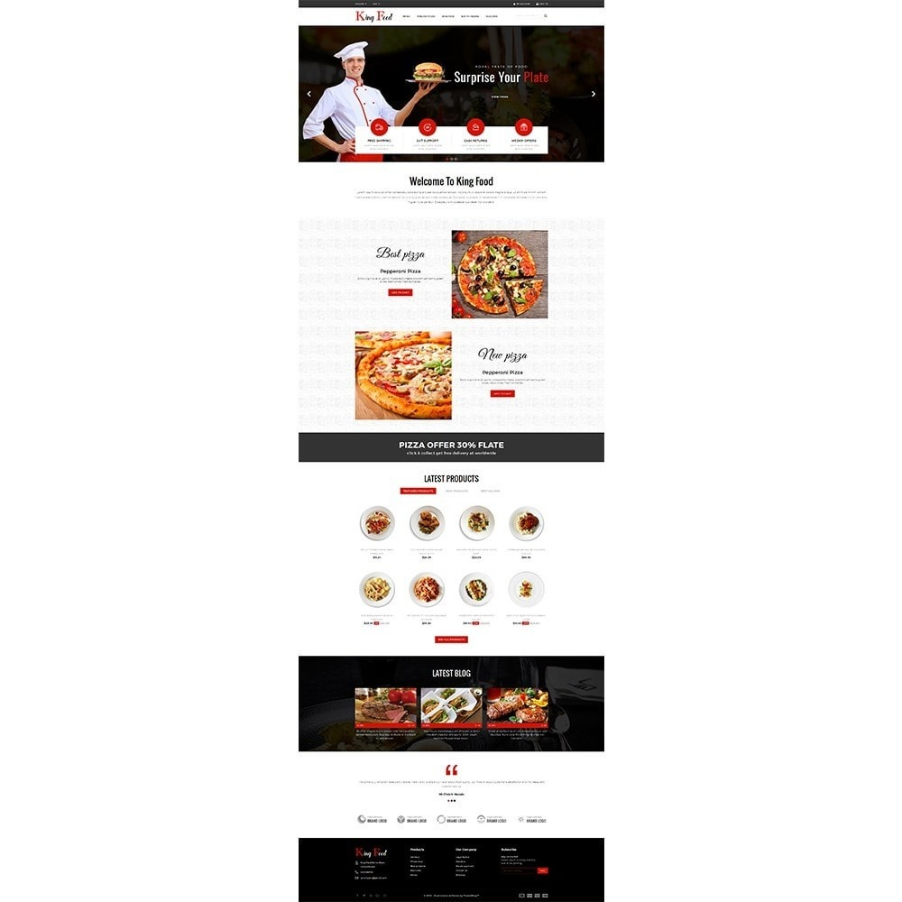 theme - Alimentation & Restauration - King Food Store - 2