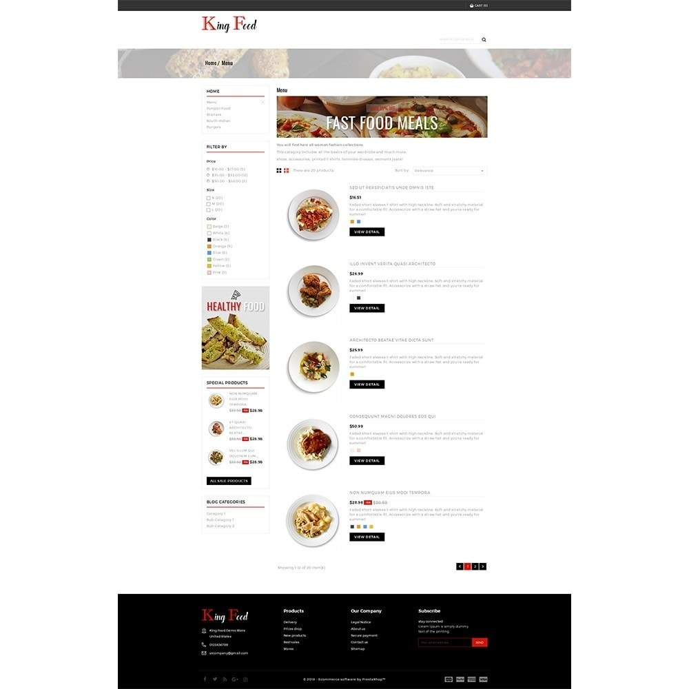 theme - Alimentation & Restauration - King Food Store - 4