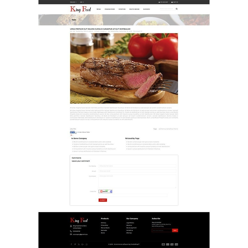 theme - Alimentation & Restauration - King Food Store - 6