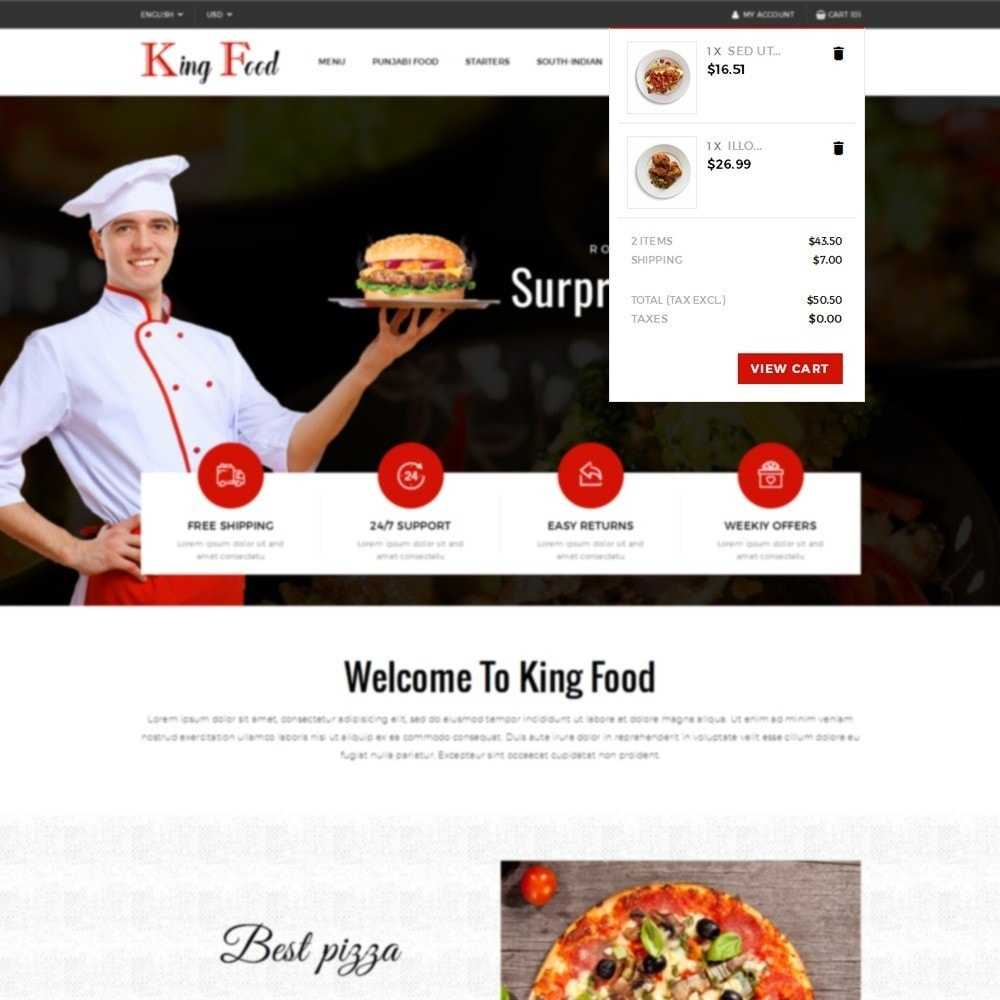 theme - Alimentation & Restauration - King Food Store - 8
