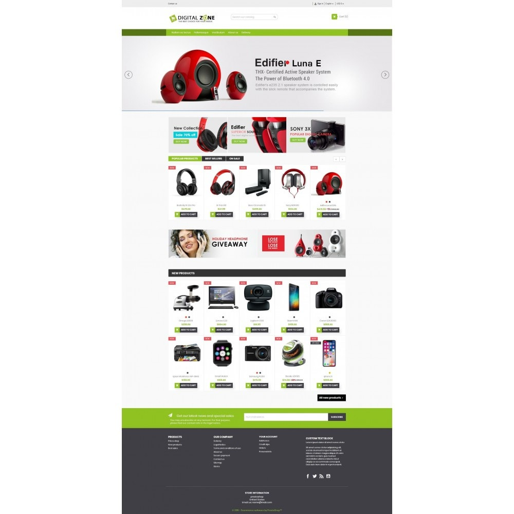 theme - Elettronica & High Tech - Digitalzone Multi-purpose HTML5 - 2