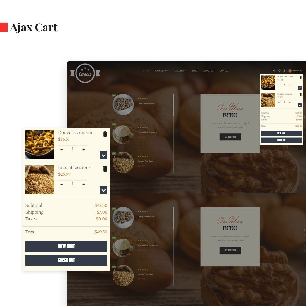 theme - Продовольствие и рестораны - Leo Cereals - 2