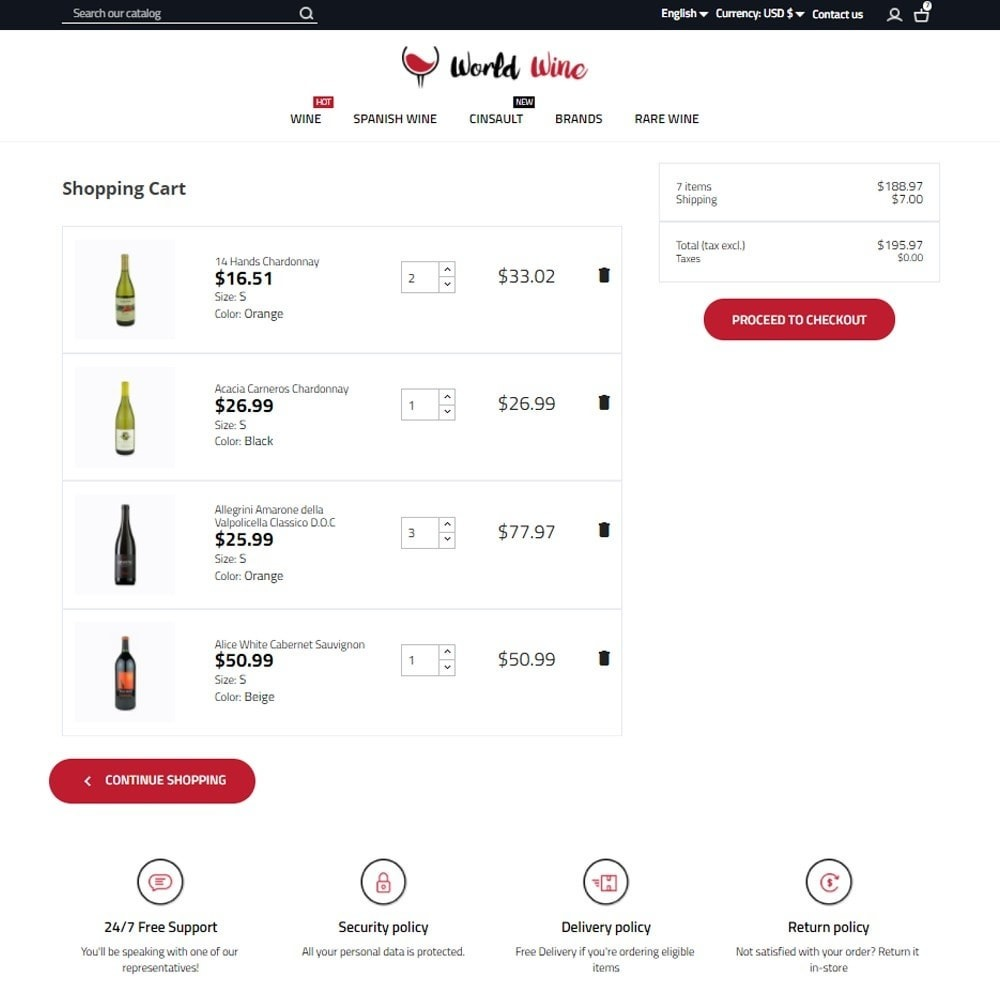 theme - Drink & Wine - World Wine Shop - 7