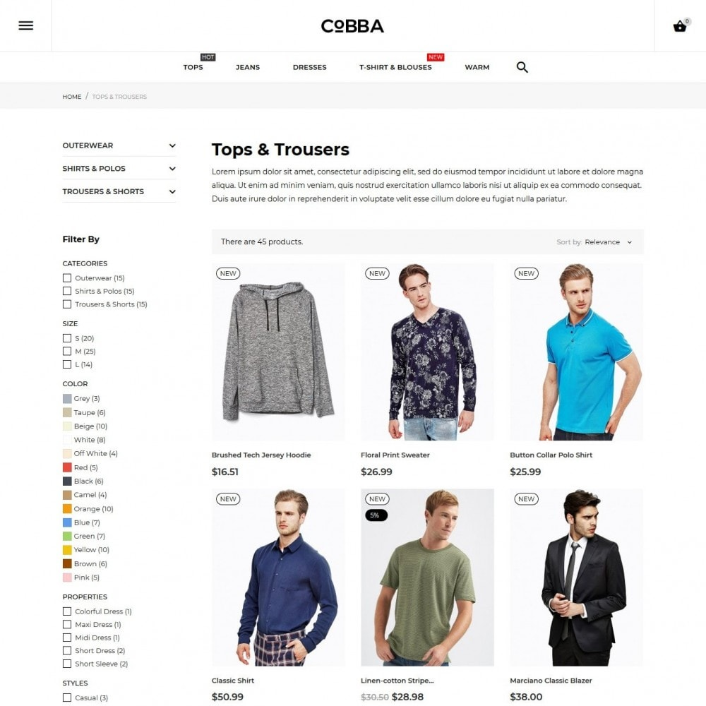 theme - Mode & Chaussures - Cobba Men's Wear - 8