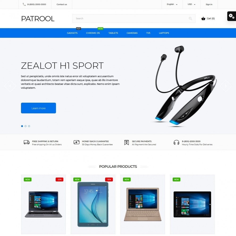 theme - Electronics & Computers - Patrool - High-tech Shop - 2