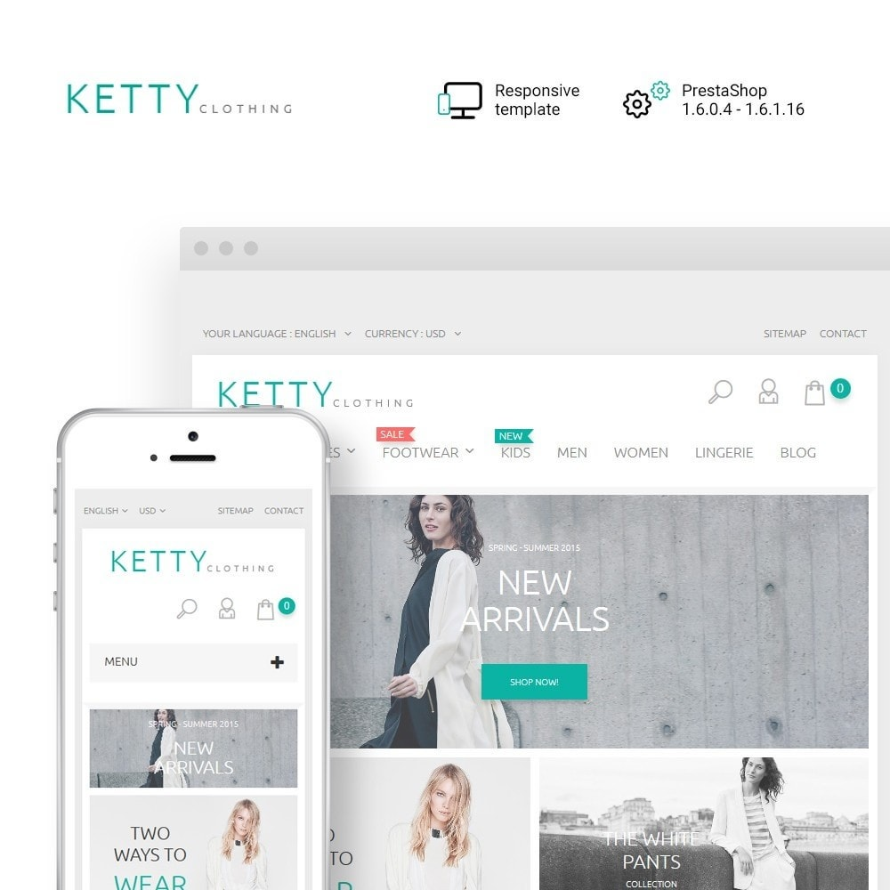 theme - Fashion & Shoes - Ketty Clothing - 1