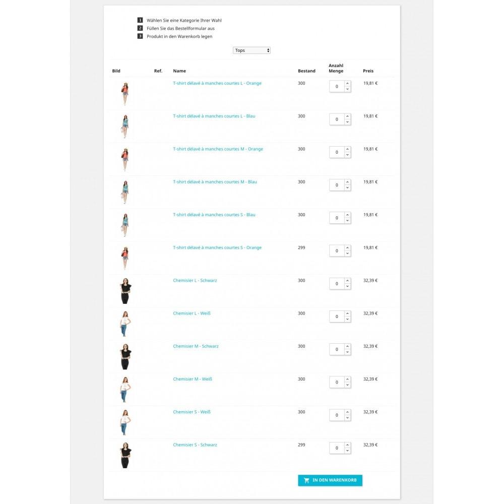 module - Anmeldung und Bestellvorgang - Bestellformular - 5