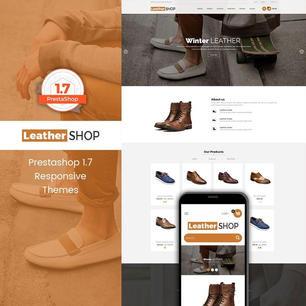 theme - Fashion & Shoes - Leather Shop - 1