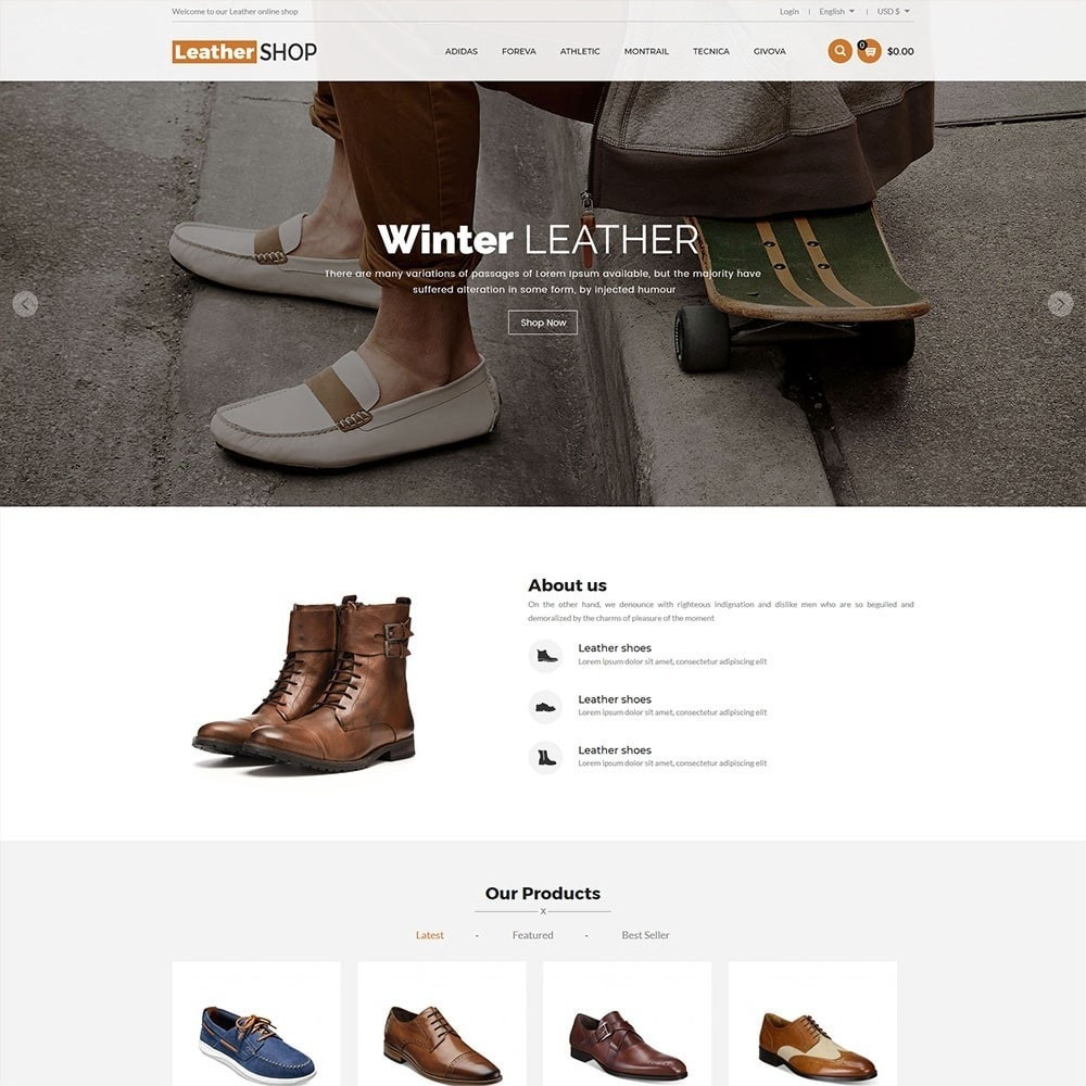 theme - Fashion & Shoes - Leather Shop - 2