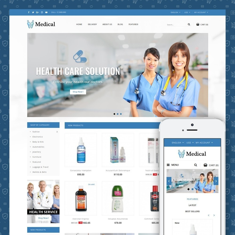 theme - Health & Beauty - Medical Store - 1