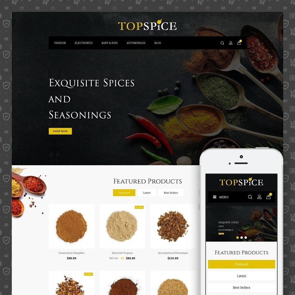theme - Lebensmittel & Restaurants - Top Spice Store - 1