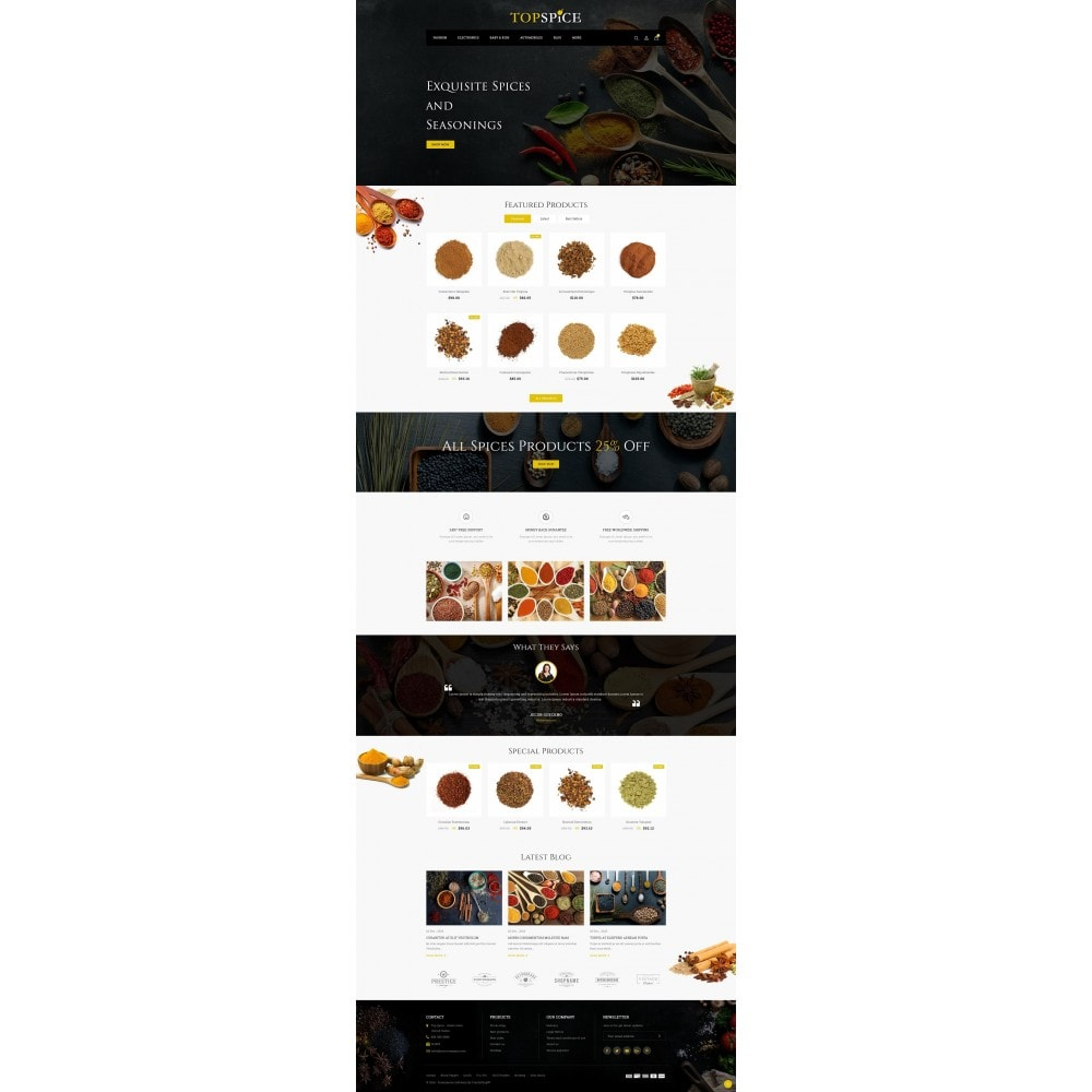 theme - Lebensmittel & Restaurants - Top Spice Store - 2