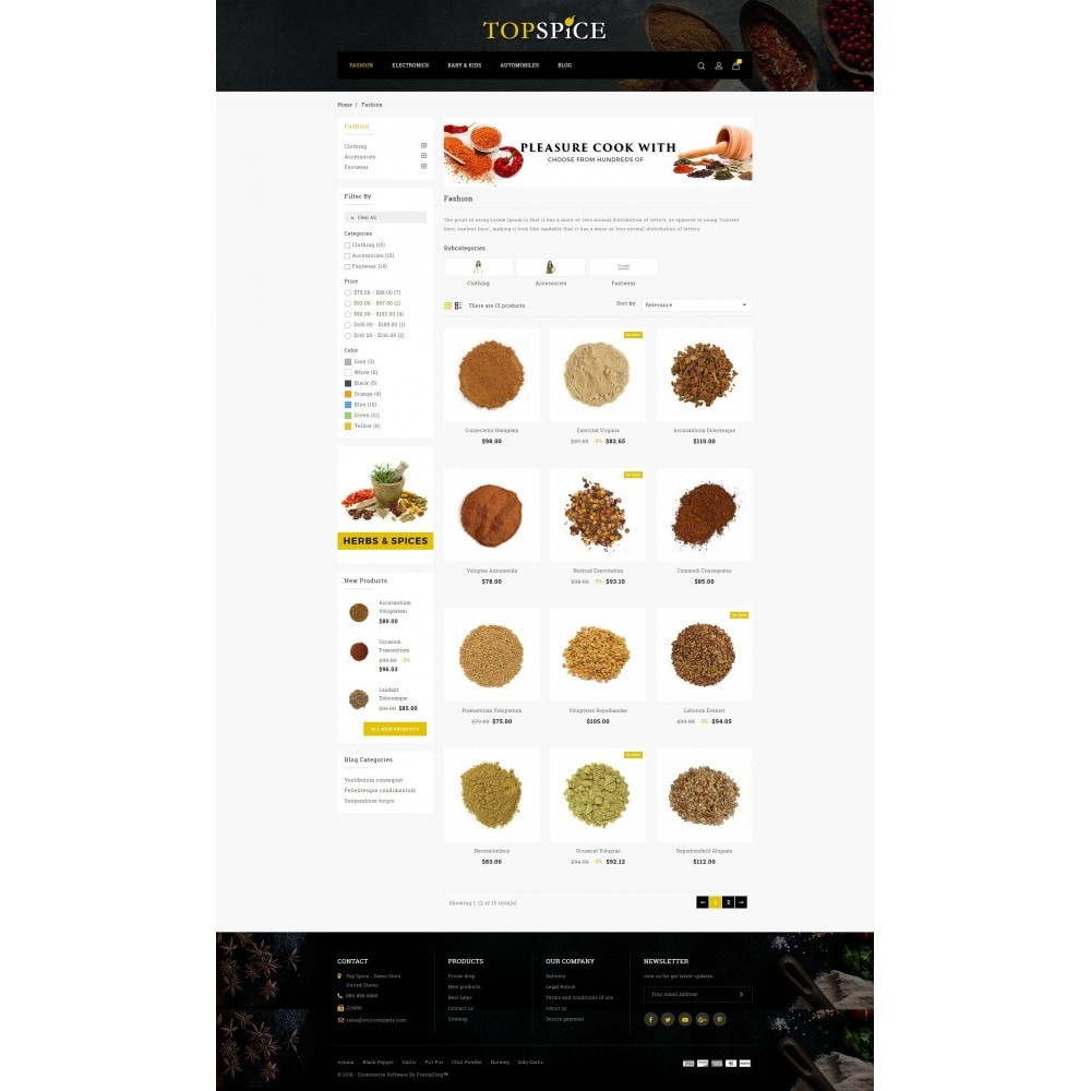 theme - Lebensmittel & Restaurants - Top Spice Store - 3