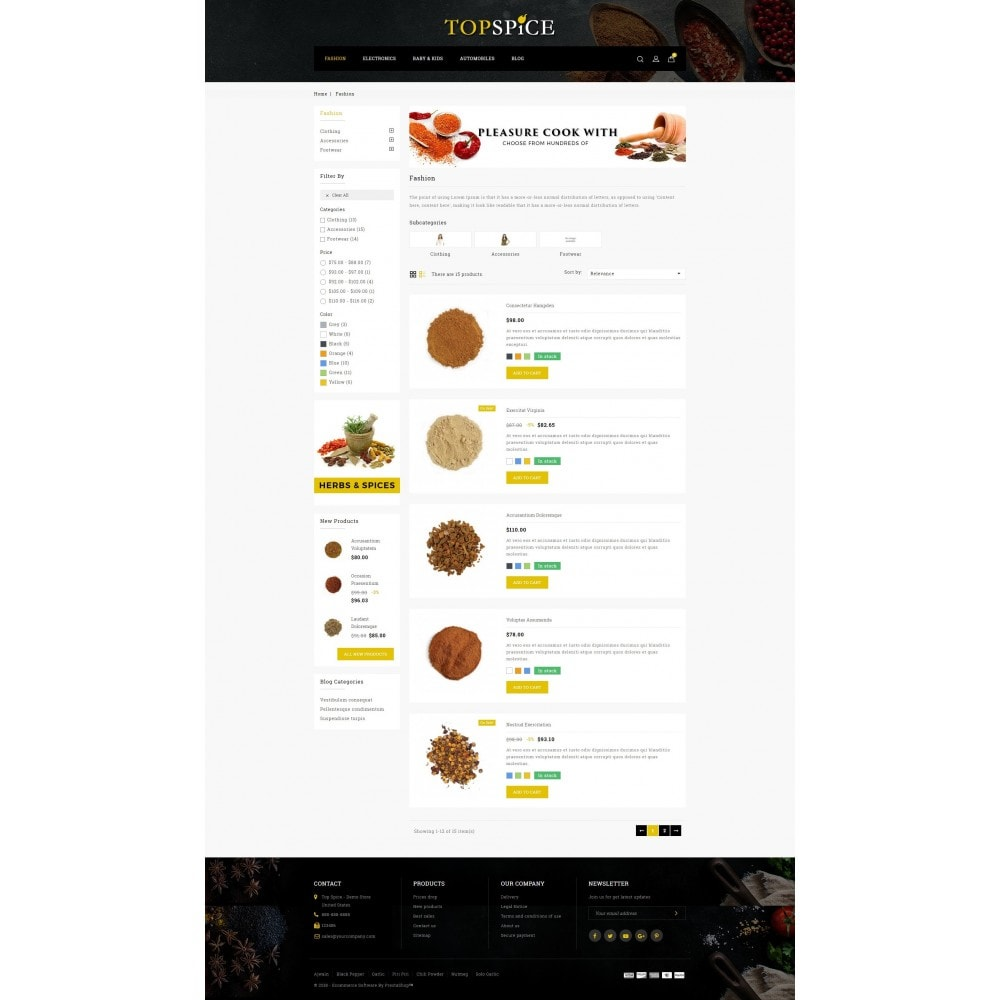 theme - Lebensmittel & Restaurants - Top Spice Store - 4