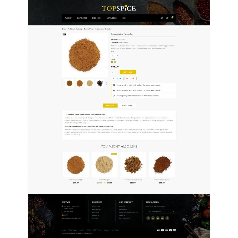 theme - Lebensmittel & Restaurants - Top Spice Store - 5